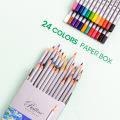 Hotspot Andstal 24 Colors  Non-toxic Healthy Professional Color Pencil Oil Colored Pencils For School Art Supplies