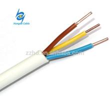 cable de torsión redondo plano NMD 10/2 AWG Cable aislado de PVC