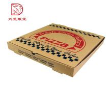 En gros nouveau design recyclable pizza personnalisée boîte d'emballage plat