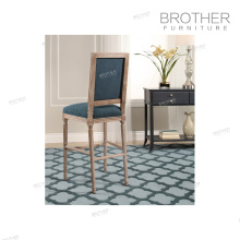 High quality antique furniture wooden high back bar stool high chair