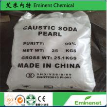 Производство бумаги, каустическая сода 99%, хлопья и жемчуг, каустическая сода