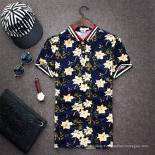 15PKPT13 2015 Casual Urlaub gedruckt 100% Polo-T-Shirt