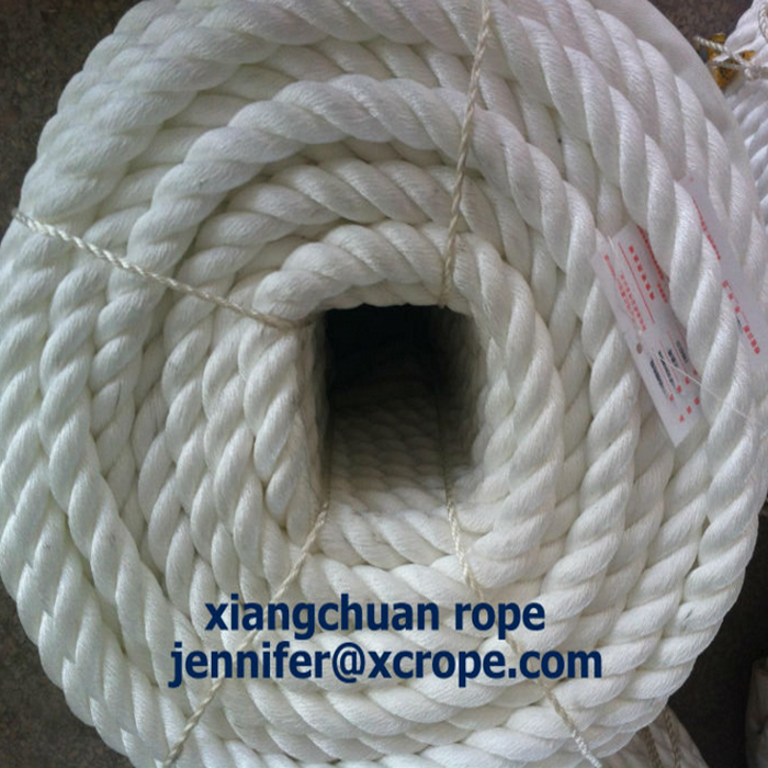 32mm 220M white polyamide yarn rope