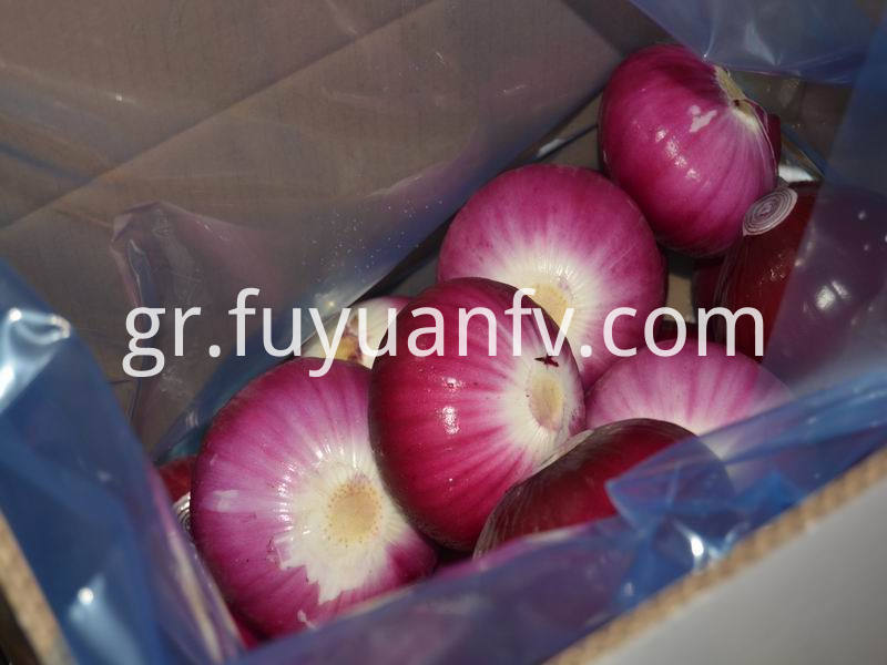red peeled onion
