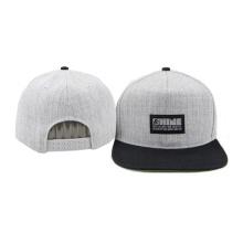 Chapéus ajustáveis do boné de beisebol do painel do plástico liso da borda 5