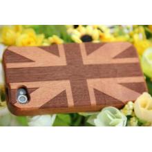 Классический английский флаг деревянные крышки iPhone