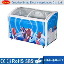 Холодильники витрины Малый морозильник со стеклянными дверцами