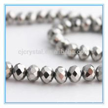 silver crystal beads,wholesales beads,rondelle beads