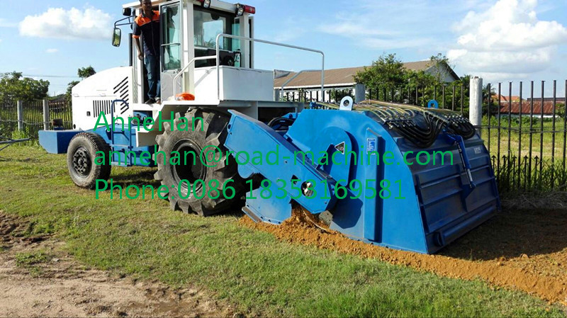 Stabilized soil mixing machine working (1)
