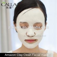 máscara de lama de brilho para o rosto