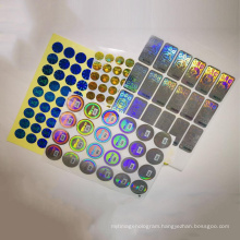 Custom high quality different color security 3d hologram sticker holographic label with serial number