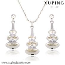 63839 Fashion Creative Rhodium en forme de poire en alliage de cuivre imitation bijoux ensemble