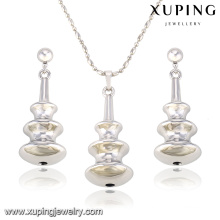 63839 Fashion Creative Rhodium Pear-Shaped Alloy Copper Imitation Jewelry Set