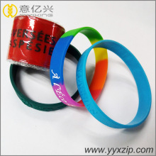Slap wrist band soft pvc rubber bracelet