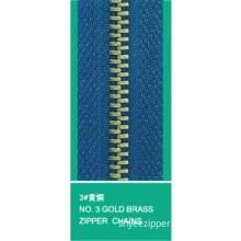3# Brass Zipper