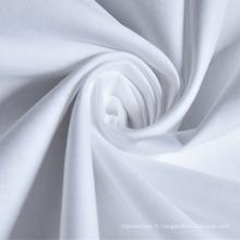 Tissu en percale de coton blanchi et teint 200T