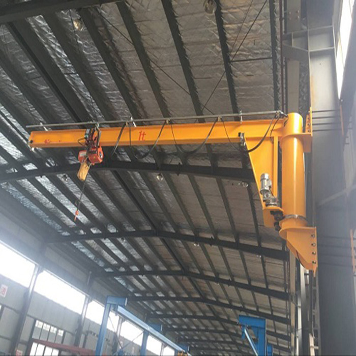 wall type rotary arm crane