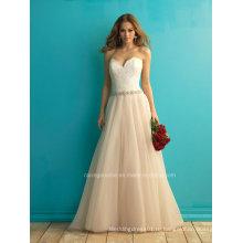 Красивая Милая Кружева Свадебное Платье Цвета Слоновой Кости Линии Свадебное Платье