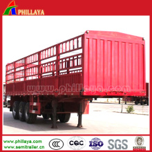 3 Axles High Bed Cargo Semi-Trailer with Stake