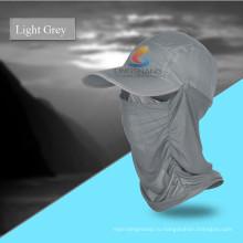 Открытый Quick Drying Round Sun Helmet Дышащая Mesh Mask Bonnie Hats Складная шапочка Sunbonnet УФ-защита Летняя шапка