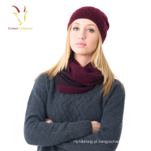 Moda inverno malha adulto chapéus padrão livre