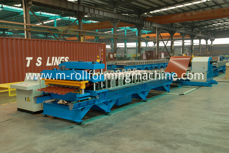 Glazed tile manufacturing roll forming machine