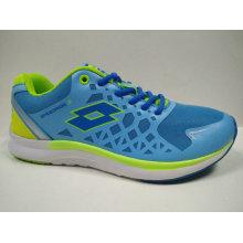 Cor brilhante azul ao ar livre sapatos de ginástica calçado de corrida
