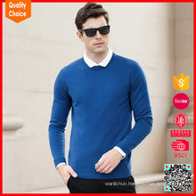 plus round long sleeve man 100% woollen sweater
