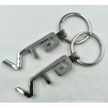 Porte-clés en forme de clé en métal
