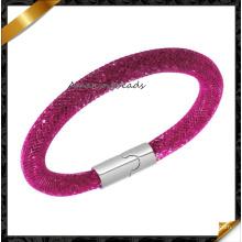 Moda unisex profundo tallado brillante malla Popular pulsera de moda de alta calidad (fb0124)