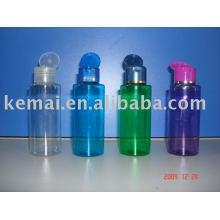 Botella plástica de la tapa del tirón