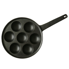 7-Cup Cast Iron Aebleskiver Pan