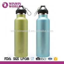 American Style Double Wall Stainless Steel Matte Finish Thermos Sport Water Bottle 0.5L