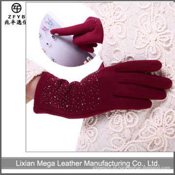 Melhor vendido inverno laminado Fleece tela de toque fabricante luvas em hebei
