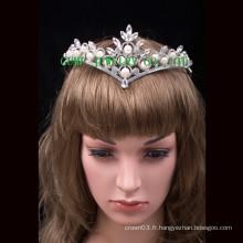 Pearl Rhinestone Tiara Pageant Crystal Crown