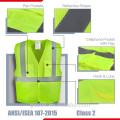 Chine usine en gros de qualité supérieure le plus nouveau gilet de sécurité réfléchissant de sécurité de sécurité avec des poches