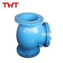 Línea de agua de válvula de retención de oscilación vertical simple de baja presión
