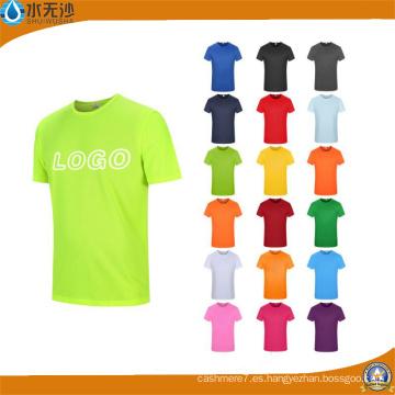 China fabrica diseño de su propio logotipo algodón hombres personalizado imprimir camisetas