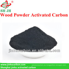 Carbón activado de madera lavada con ácido para la refinación del azúcar
