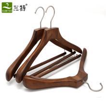 Alibaba cintre avec fonction manteau cintre en bois cintre de haute qualité