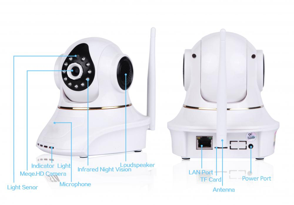30fps kabellose Plug & Play HD IP Wifi Baby Kamera 1MP 12V