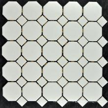 Tuile de mosaïque de porcelaine blanche Ivoire