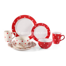 Gres porcellanato 16 piece Dinnerware Set-rossa