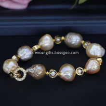 Colorful Freshwater Baroque Pearl Bracelet