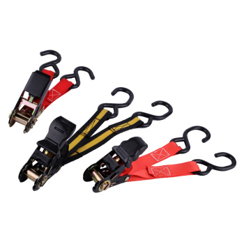 Ergonomic Handle Ratchet Tie Down Straps with S Hooks