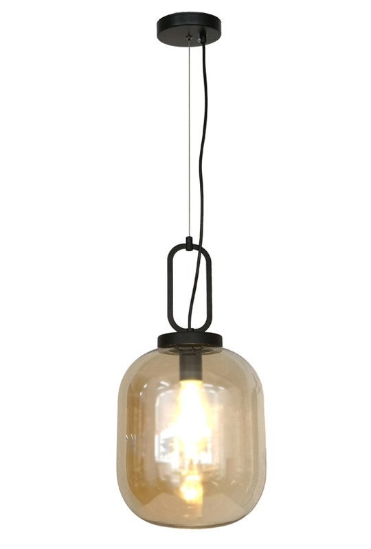 Modern Amber Color Pendant Lamp