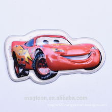 2015 custom cute cartoon car design 3D bubble plastic fridge magnet