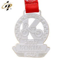 Wholesale cheap zinc alloy custom matt silver metal sports medal