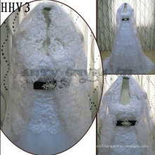 2011 Wholesale New Lace Edged Two Layers Real Sample Bride Wedding Veil