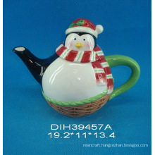 Hand-Painted Ceramic Penguin Teapot